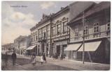 #1997- Romania, Szaszvaros, Broos, Orastie,  c.p. circ. 1910: Scena strada, anim, Circulata, Fotografie