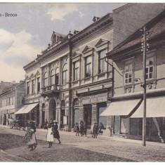 #1997- Romania, Szaszvaros, Broos, Orastie, c.p. circ. 1910: Scena strada, anim - Carte Postala Transilvania 1904-1918, Circulata, Fotografie