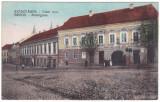 #2000- Romania, Szaszvaros, Orastie, Broos, c.p. circ. 1916: Strada Vasar, anim, Circulata, Fotografie