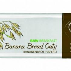 Baton RAW breakfast cu banane si ovaz BIO 40 g - Supliment nutritiv