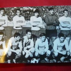 Ilustrata-Echipa Nationala Fotbal Romania 1969 inaintea meciului cu Portugalia