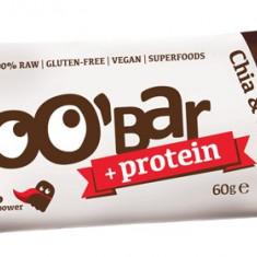 Baton proteic cu chia si ciocolata RAW BIO 60 g (13 g proteine)