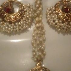 Set colier si cercei Paradise nr 6 - Set bijuterii handmade si fashion
