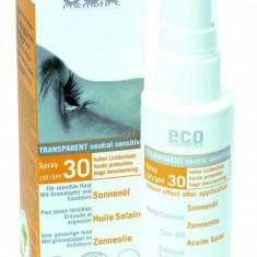 Ulei de plaja bio cu protectie solara inalta FPS 30, spray - Eco Cosmetics, 50ml