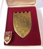 Placheta linia CFR Titu - Targoviste 100 de ani cai ferate