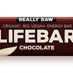 Lifebar baton cu ciocolata RAW BIO 47 g - Supliment nutritiv