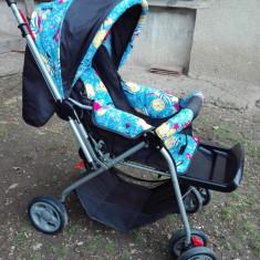 Carucior Copii - Carucior copii Sport Primii Pasi, 0-6 luni, Pliabil, Multicolor, Maner reversibil