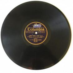 Disc ebonita gramofon Grigoras Dinicu si orchestra,marca Columbia din anii 30