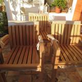 Scaun lemn masiv teak - Scaun gradina