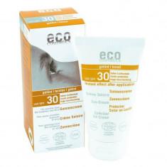 Crema bio protectie solara inalta FPS 30, nuantatoare - Eco Cosmetics, 75ml