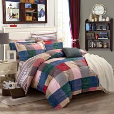 LENJERIE PAT DUBLA, 4 PIESE, 100% BUMBAC RANFORCE, 2023112, DESIGN LOVE HOUSE - Lenjerie de pat