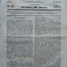 Gazeta de Transilvania, Brasov, nr. 26, 30 Martie, 1844 - Ziar