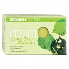 Sapun crema Bio flori de tei 100 gr Sodasan