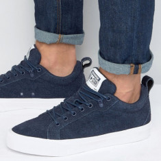 Tenisi adidasi pantofi sport barbati CONVERSE originali piele bleumarin 42.5 - Tenisi barbati Converse, Piele intoarsa