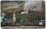 #2008- Romania, Maramures, Izaszacsalon, Sacel  c.p. circ. 1918: Sonda de petrol, Circulata, Fotografie