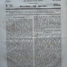 Gazeta de Transilvania, Brasov, nr. 29, 10 Aprilie, 1844 - Ziar