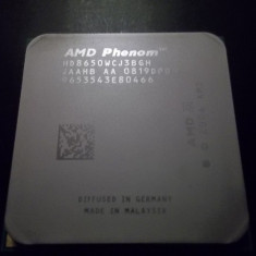Procesor AMD PHENOM X3 triple core 8650 2.3 GHZ socket AM AM2+ - HD8650WCJ3BGH - Procesor PC AMD, Numar nuclee: 2, 2.0GHz - 2.4GHz