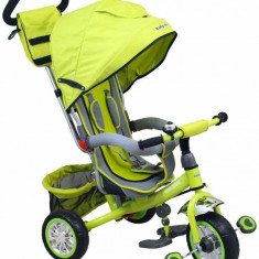 Tricicleta multifunctionala Sunny Steps Green - Tricicleta copii Baby Mix, Verde
