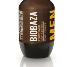Deodorant natural pentru barbati Power Up (lamaie si bergamot) - Biobaza - Antiperspirant barbati