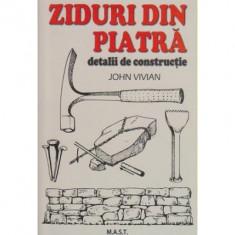 John Vivian - Ziduri din piatra - 37376 - Carte amenajari interioare