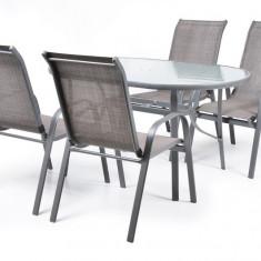 Set 4 Mase cu 4 scaune schelet metalic Hecht Ekonomy - Masa bucatarie