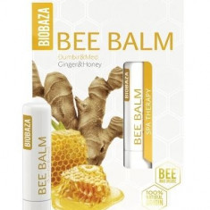 Balsam de buze cu miere si ghimbir - Biobaza