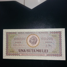Bancnota 100000lei 1947 unc rare - Bancnota romaneasca