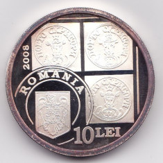 Romania 10 Lei 2008 (Bull's Head) Argint 31.10 g/999, MV1, 37 mm KM-230 aUNC - Moneda Romania