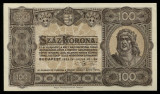 UNGARIA BANCNOTA DE 100 KORONA COROANE 1923 PERFECT UNC