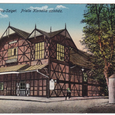#2014- Romania, Maramures, M.Sziget c.p. Kuk cenz. circ. 1917: Teatrul  Prielle