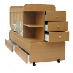 Patut transformabil copii - junior - Patut lemn pentru bebelusi, 120x60cm, Altele