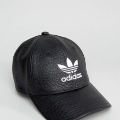 Sapca Adidas Originals Trefoil Faux Leather - Anglia - Polyurethane - Detalii - Sapca Barbati Adidas, Marime: Marime universala, Culoare: Negru