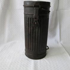 Cutie masca de gaze germana WW2, cutie masca de gaze nemteasca 1944