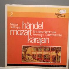 Mozart/Handel - Eine Kleine Nacht Music/Water Music (1960/Emi/Italy) - VINIL/RAR - Muzica Clasica emi records