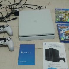 Consola Sony Playstation 4 PS4 Alba 500GB Dualshock 4 controller + 2 Jocuri