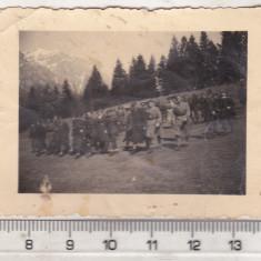 Bnk foto - Vanatori de munte - aproximativ 1940 - Fotografie, Alb-Negru, Militar, Romania 1900 - 1950