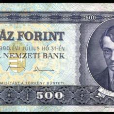 UNGARIA BANCNOTA DE 500 FORINT 1990 UNC ADY ENDRE NECIRCULATA - bancnota europa