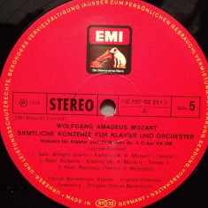 MOZART -Concert for piano no 8 & 9 - D.BARENBOIM (1967/EMI/RFG) -VINIL/Impecabil - Muzica Clasica emi records