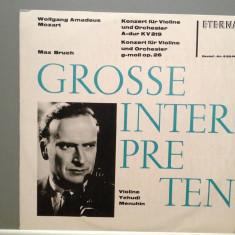 Mozart/Bruch - Concert for Violin KV219/G-moll(1964/Eterna/DDR) -VINIL/Impecabil - Muzica Clasica Altele