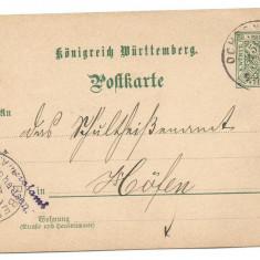 @ carte postala -GERMANIA 1898, Circulata, Printata