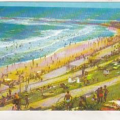 Bnk cp Eforie Sud - Plaja - uzata - Carte Postala Dobrogea dupa 1918, Circulata, Printata