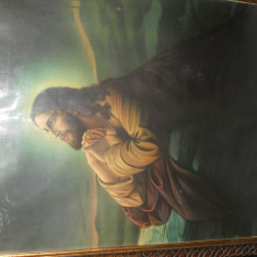 ICOANA VECHE LITOGRAFIE ' ISUS '' ( 44 X 56 CM) - Icoana litografiate