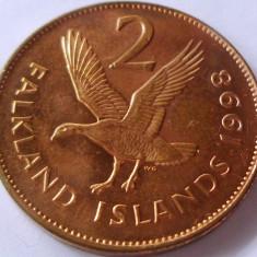 Moneda 2 Pence - i-le FALKLAND, anul 1998 *cod 2363 a.UNC, Australia si Oceania