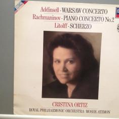 C.ORTIZ plays RACHMANINOV/ADDINSELL(1984/DECCA/W.GERMANY) - VINIL/Impecabil - Muzica Clasica decca classics
