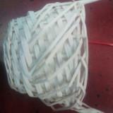 Cos ALB rotund impletit cu toarta foarte inalta, D 17/12 cm, H 45 cm
