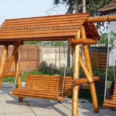 Leagan balansoar rustic - Balansor gradina
