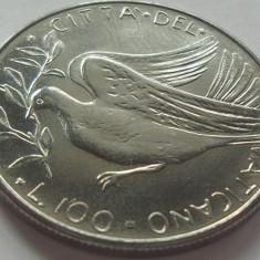 Moneda 100 Lire - VATICAN *cod 4949 PAVLVS VI - UNC din fasic, Europa