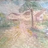 DRUM CATRE SAT - Pictor roman, Peisaje, Acuarela, Impresionism
