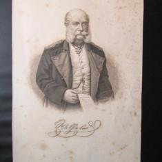 Gravura veche, sfarsitul sec. XIX: Imparatul Wilhelm I (1797-1888) - Litografie