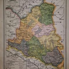 General C. Teodorescu - HARTA JUDETULUI ORHEI - BASARABIA, Brasov 1928
